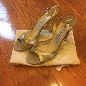 Jimmy Chop Gold Heels